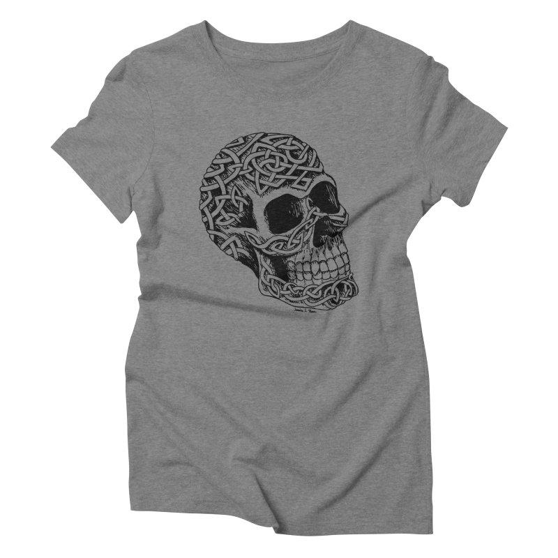 Celtic Skull Women's Triblend T-Shirt by jessileigh's Artist Shop