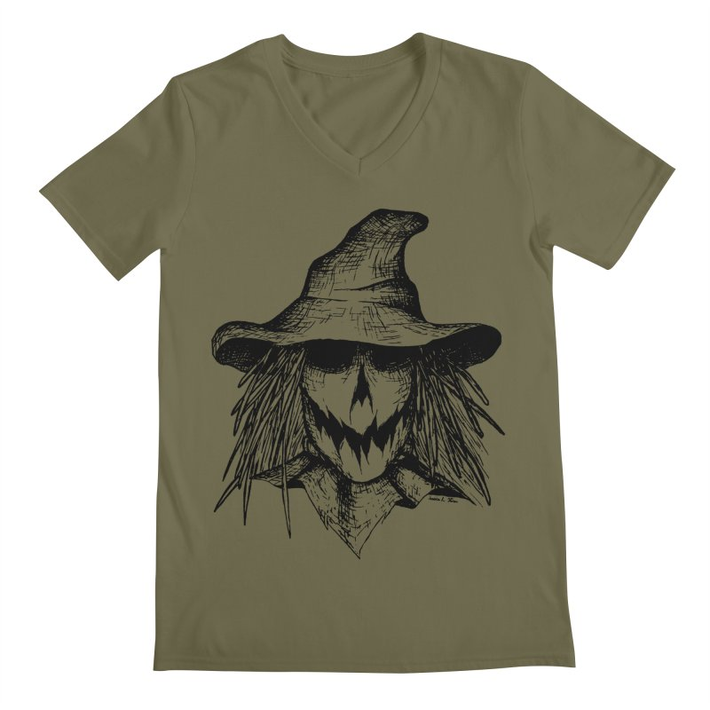 Scarecrow Men's V-Neck by jessileigh's Artist Shop