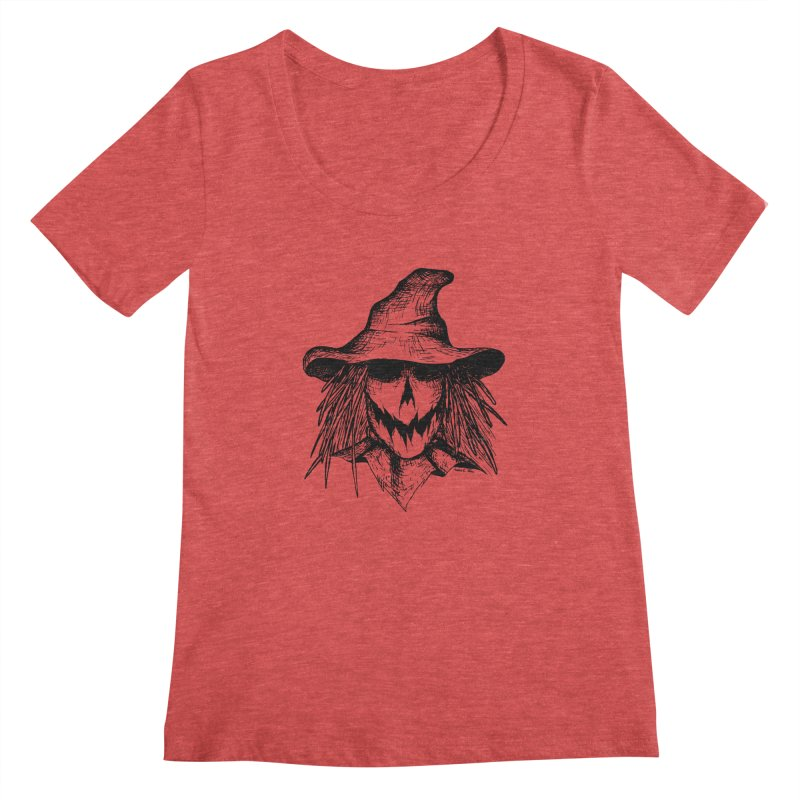 Scarecrow Women's Scoopneck by jessileigh's Artist Shop