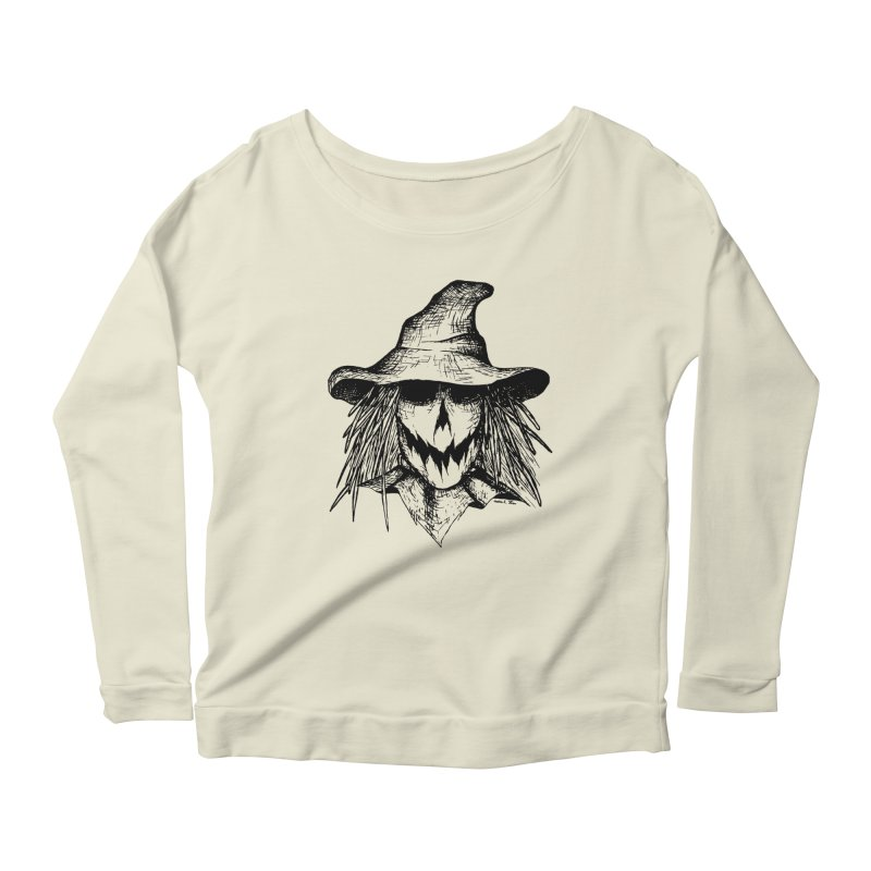 Scarecrow Women's Longsleeve Scoopneck  by jessileigh's Artist Shop