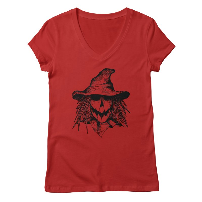 Scarecrow Women's V-Neck by jessileigh's Artist Shop