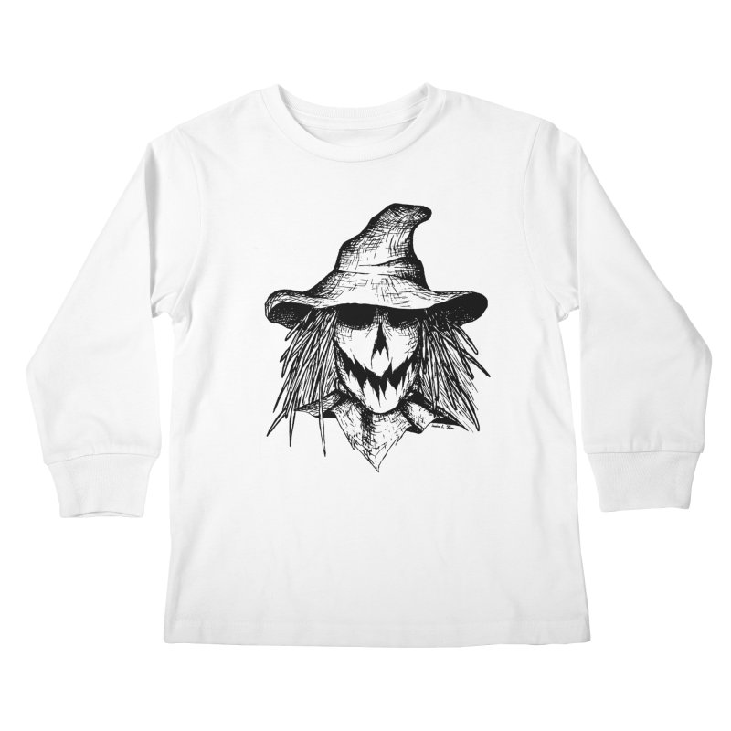 Scarecrow Kids Longsleeve T-Shirt by jessileigh's Artist Shop