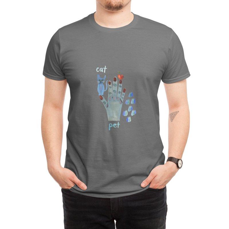 Pet Cat Men's T-Shirt by Shame Shame, go away by Jess Mac