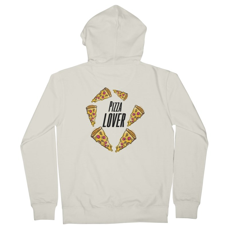 Pizza Lover Men's Zip-Up Hoody by jessperezes's Artist Shop
