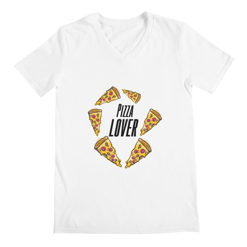 Pizza Lover Men's V-Neck by jessperezes's Artist Shop