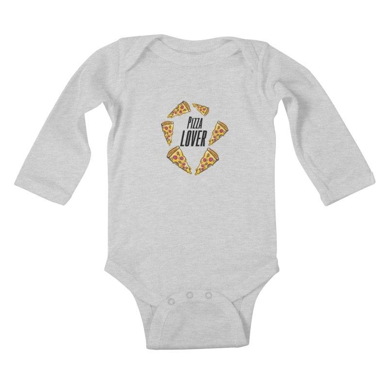 Pizza Lover Kids Baby Longsleeve Bodysuit by jessperezes's Artist Shop