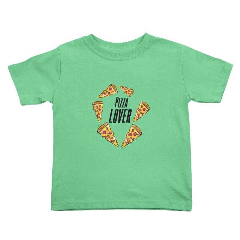 Pizza Lover Kids Toddler T-Shirt by jessperezes's Artist Shop