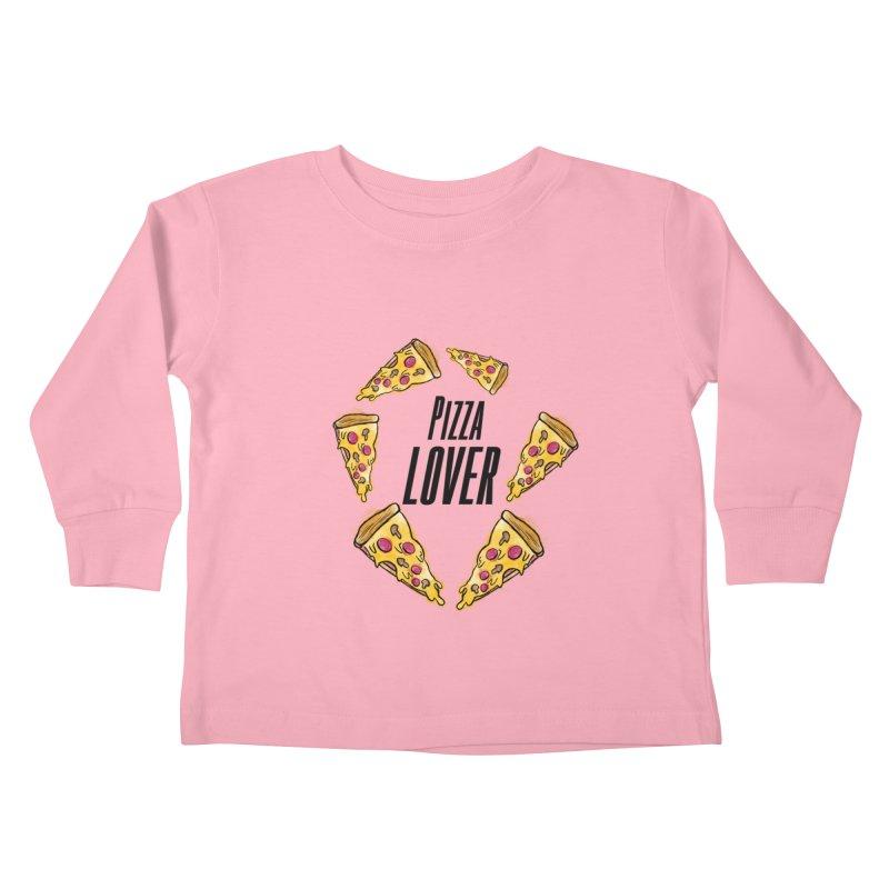 Pizza Lover Kids Toddler Longsleeve T-Shirt by jessperezes's Artist Shop