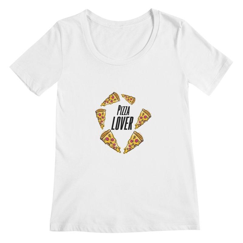 Pizza Lover Women's Scoopneck by jessperezes's Artist Shop