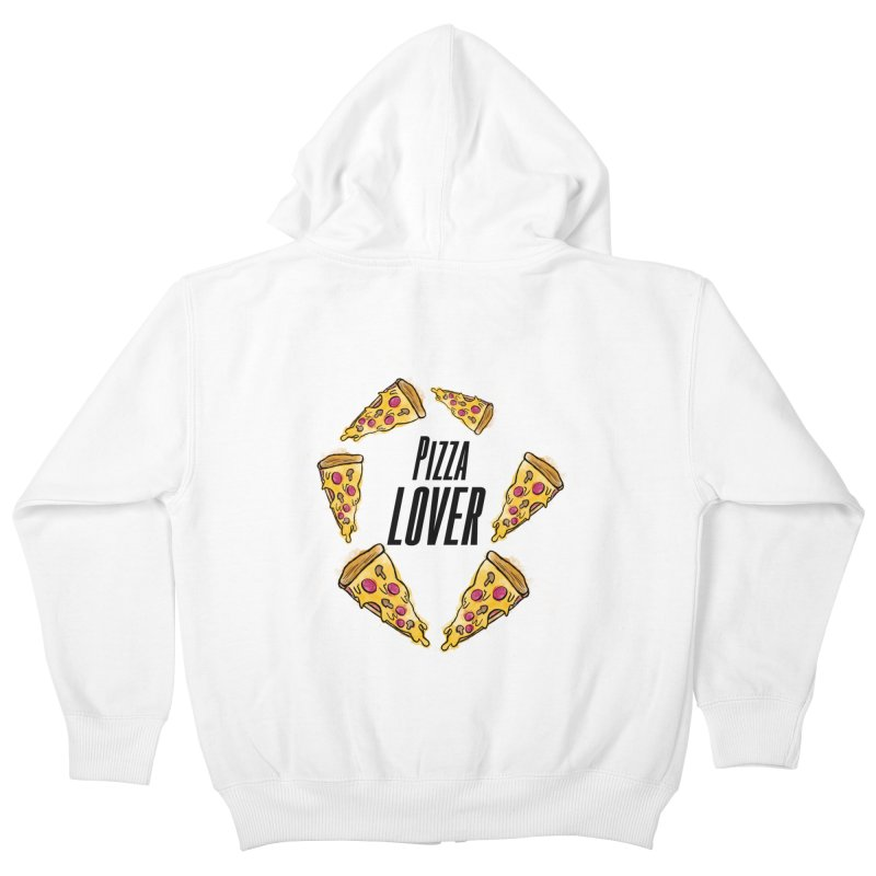 Pizza Lover Kids Zip-Up Hoody by jessperezes's Artist Shop