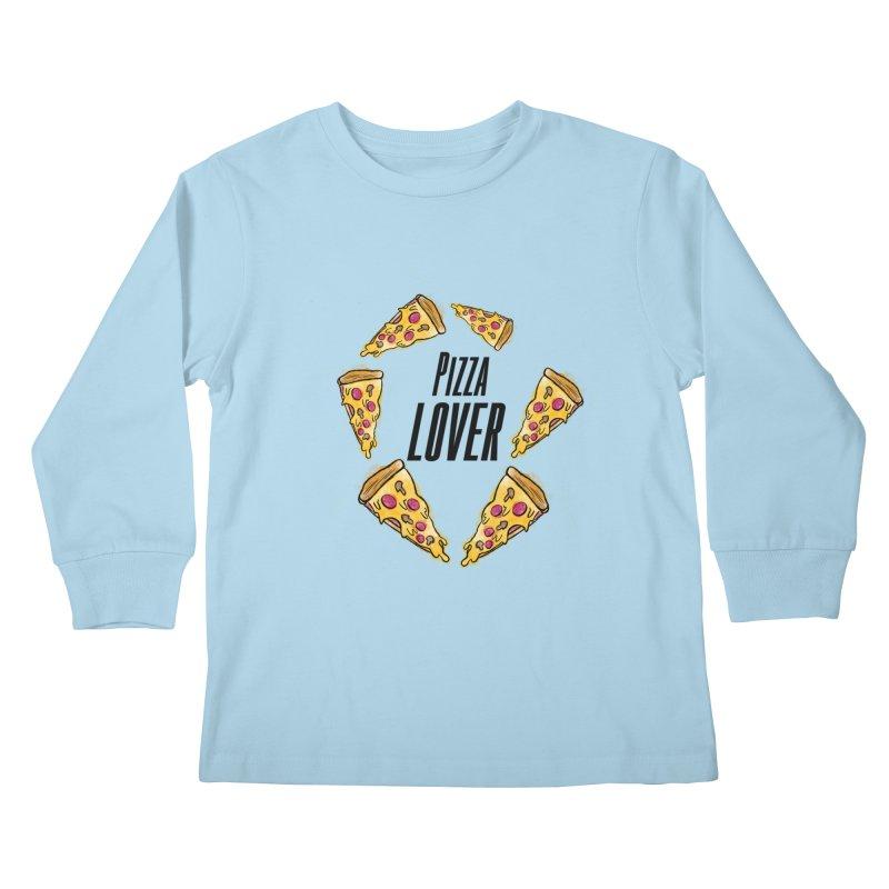 Pizza Lover Kids Longsleeve T-Shirt by jessperezes's Artist Shop