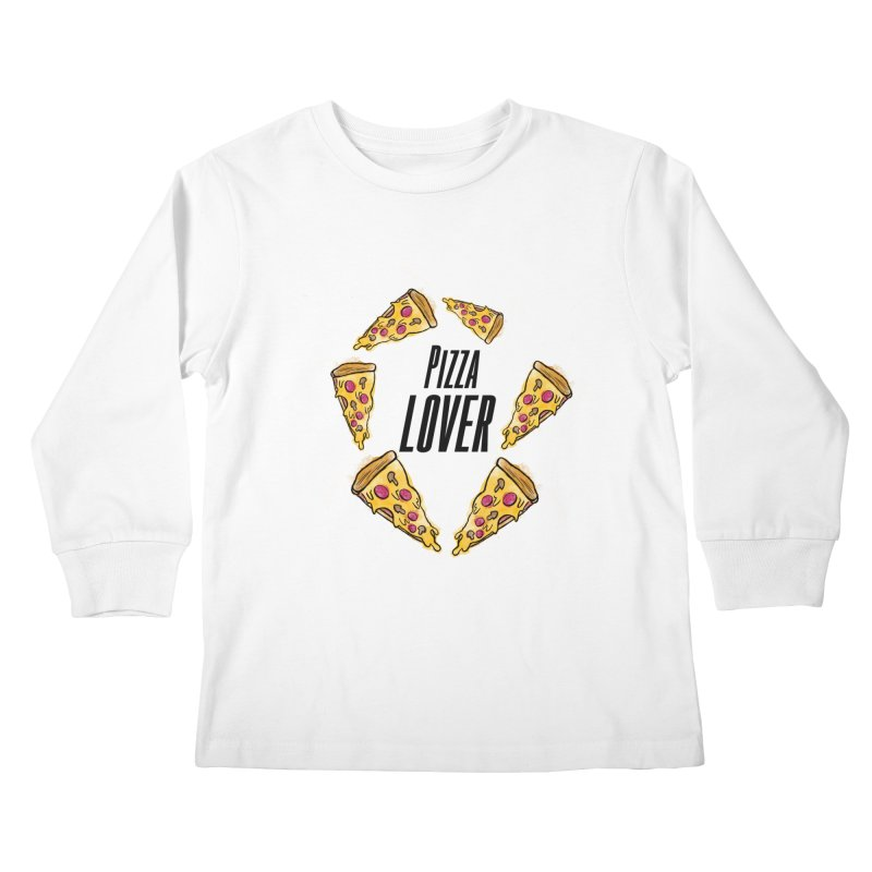 Pizza Lover Kids Longsleeve T-Shirt by jessperezes's Artist Shop