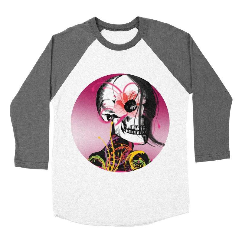 Señorita Muerte Women's Baseball Triblend T-Shirt by jessperezes's Artist Shop