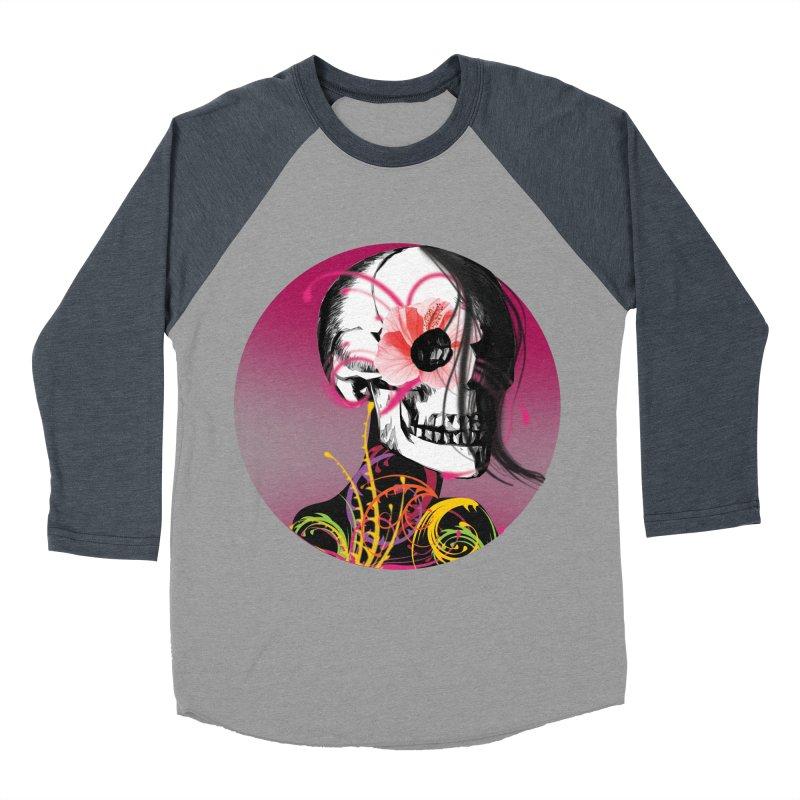 Señorita Muerte Men's Baseball Triblend T-Shirt by jessperezes's Artist Shop