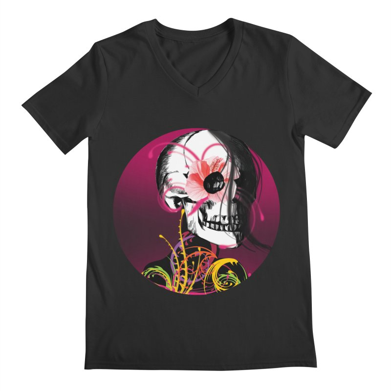 Señorita Muerte Men's V-Neck by jessperezes's Artist Shop