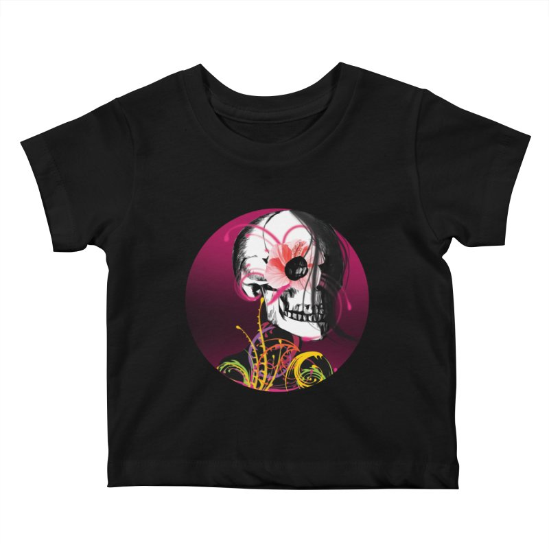 Señorita Muerte Kids Baby T-Shirt by jessperezes's Artist Shop