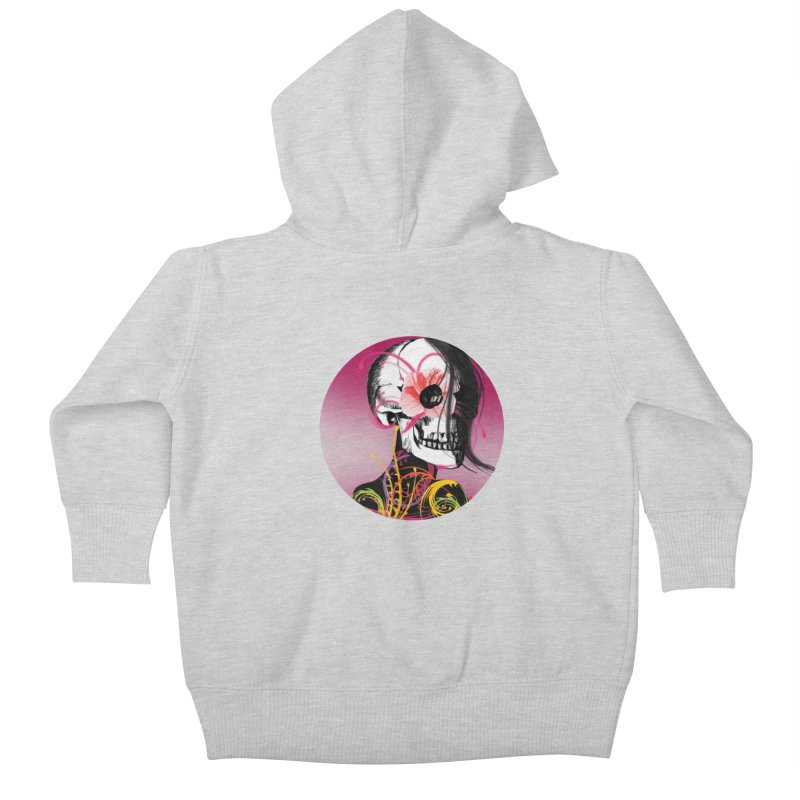 Señorita Muerte Kids Baby Zip-Up Hoody by jessperezes's Artist Shop
