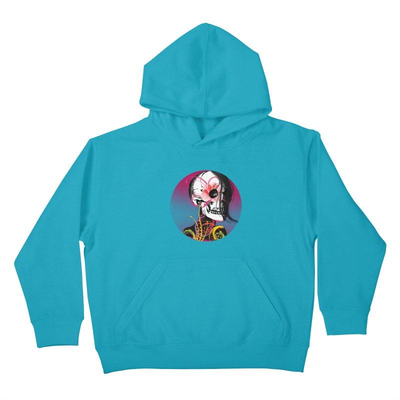 Señorita Muerte Kids Pullover Hoody by jessperezes's Artist Shop