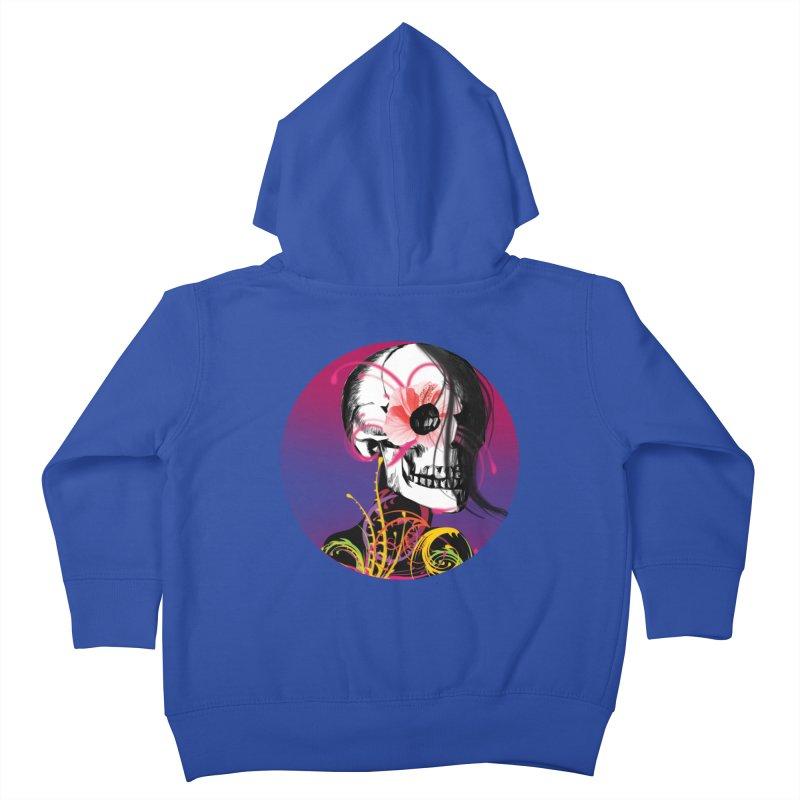Señorita Muerte Kids Toddler Zip-Up Hoody by jessperezes's Artist Shop