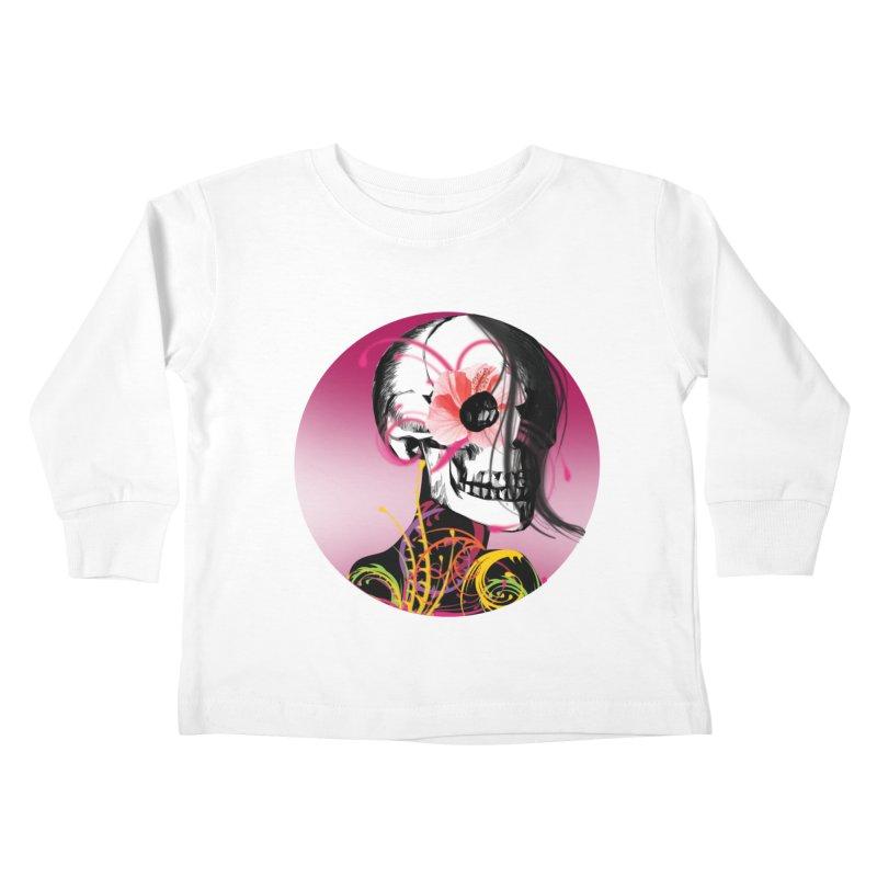 Señorita Muerte Kids Toddler Longsleeve T-Shirt by jessperezes's Artist Shop