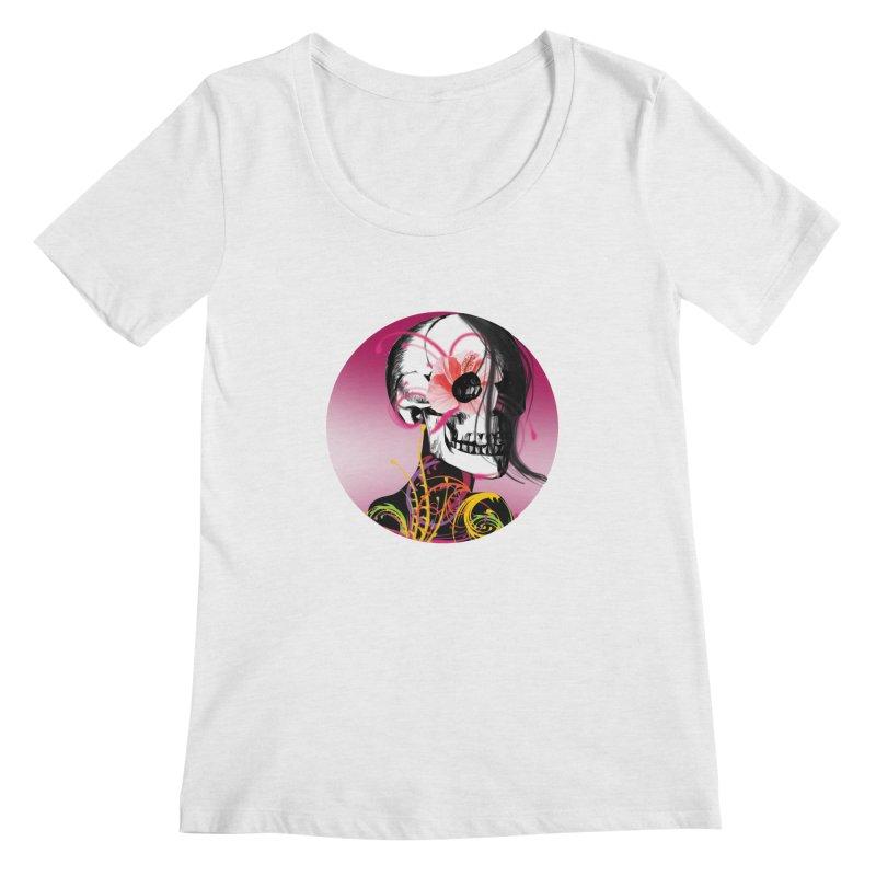 Señorita Muerte Women's Scoopneck by jessperezes's Artist Shop