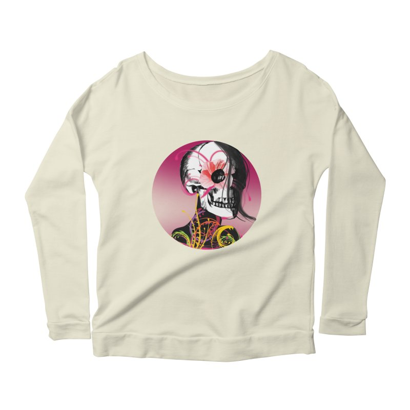Señorita Muerte Women's Longsleeve Scoopneck  by jessperezes's Artist Shop