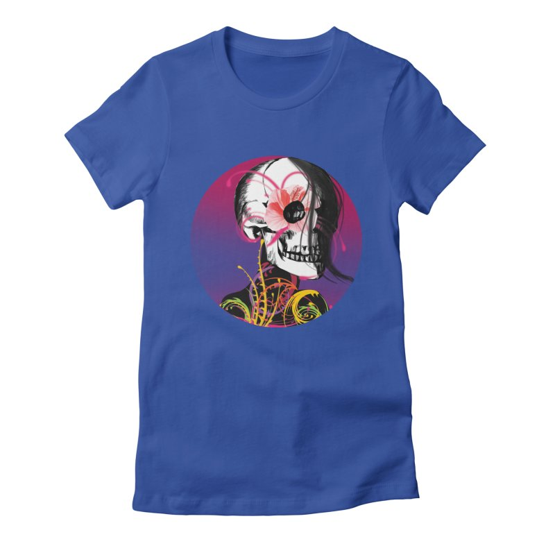 Señorita Muerte Women's Fitted T-Shirt by jessperezes's Artist Shop
