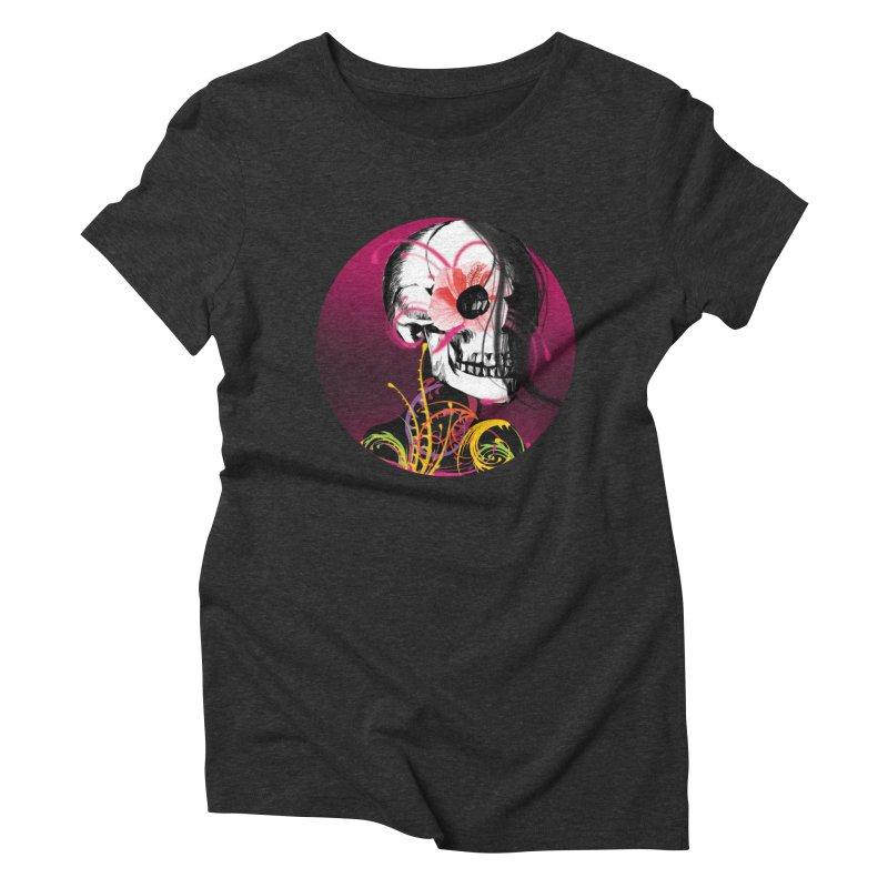 Señorita Muerte Women's Triblend T-Shirt by jessperezes's Artist Shop