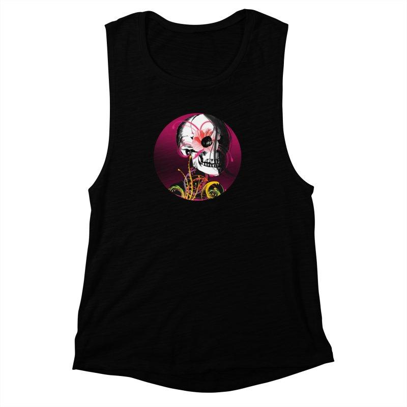 Señorita Muerte Women's Muscle Tank by jessperezes's Artist Shop