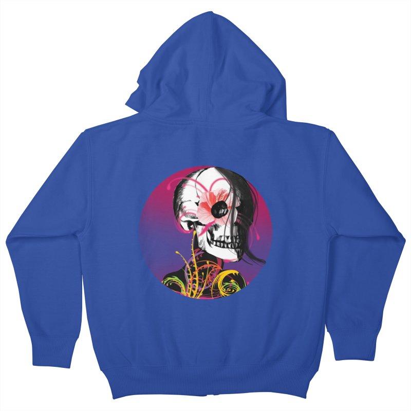Señorita Muerte Kids Zip-Up Hoody by jessperezes's Artist Shop