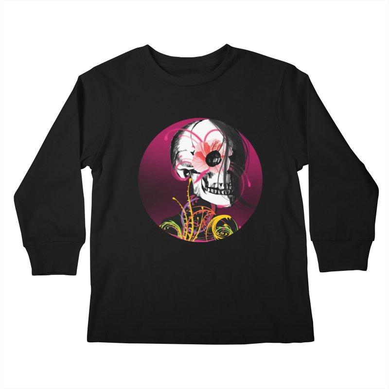 Señorita Muerte Kids Longsleeve T-Shirt by jessperezes's Artist Shop