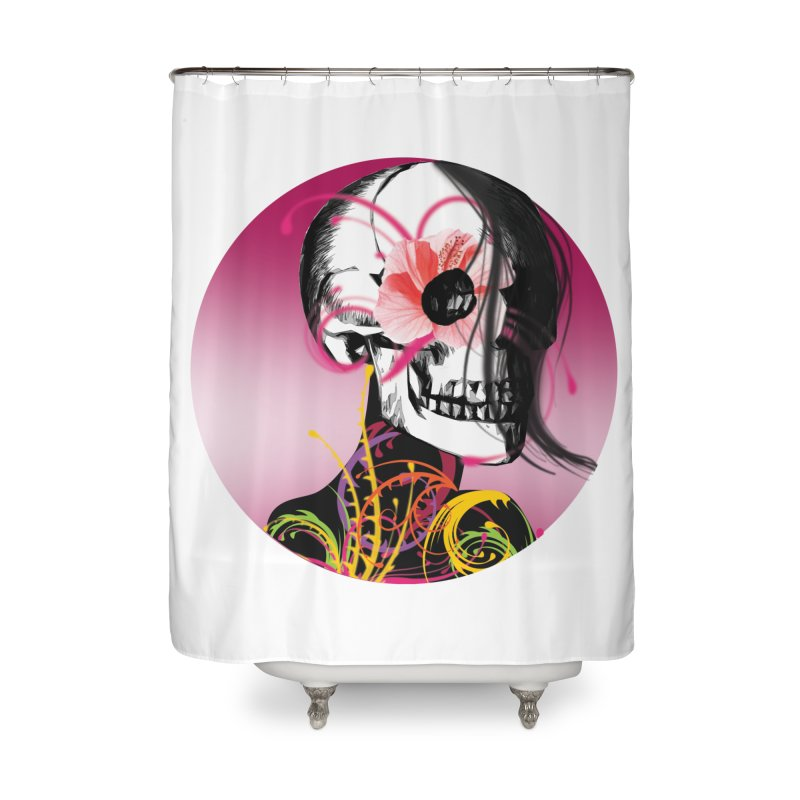 Señorita Muerte Home Shower Curtain by jessperezes's Artist Shop