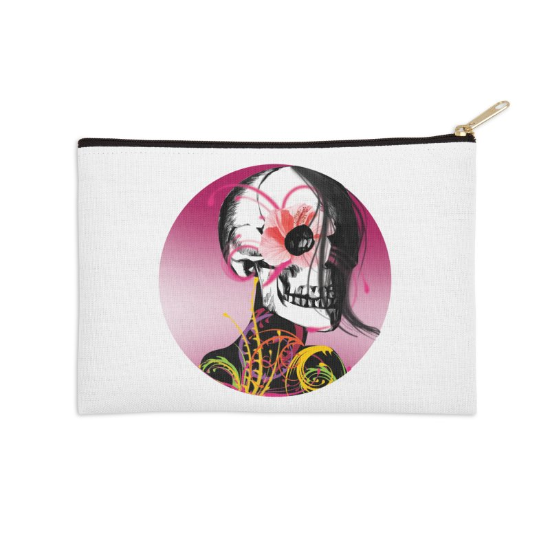 Señorita Muerte Accessories Zip Pouch by jessperezes's Artist Shop