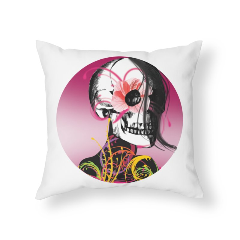 Señorita Muerte Home Throw Pillow by jessperezes's Artist Shop