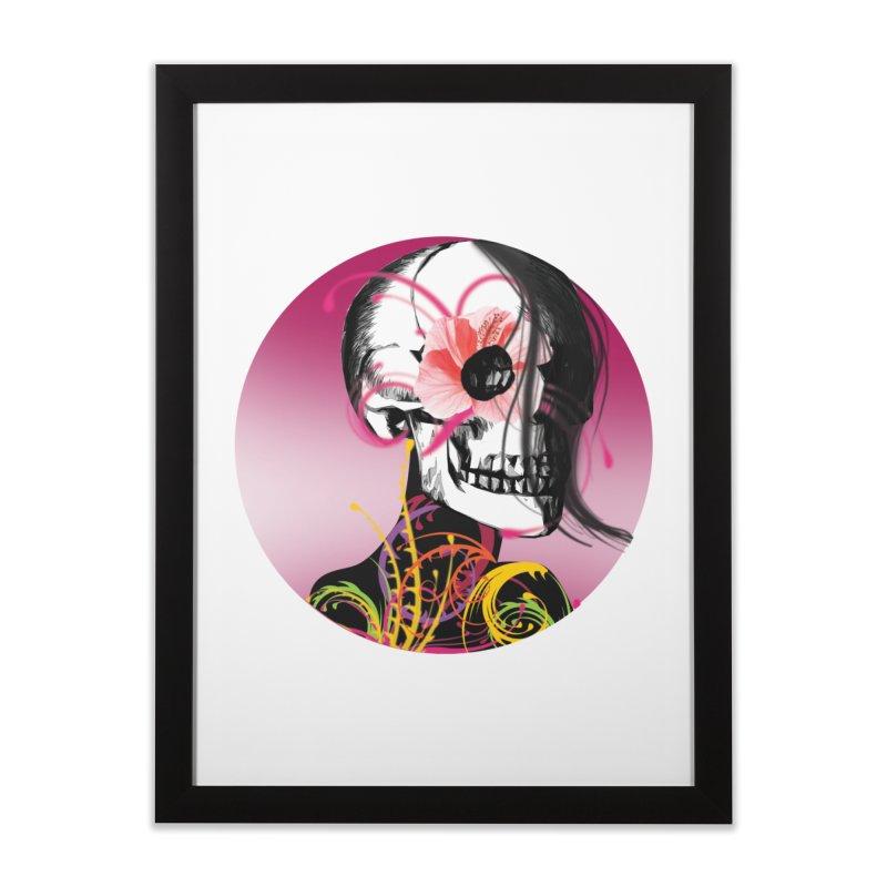 Señorita Muerte Home Framed Fine Art Print by jessperezes's Artist Shop