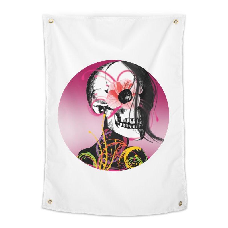 Señorita Muerte Home Tapestry by jessperezes's Artist Shop