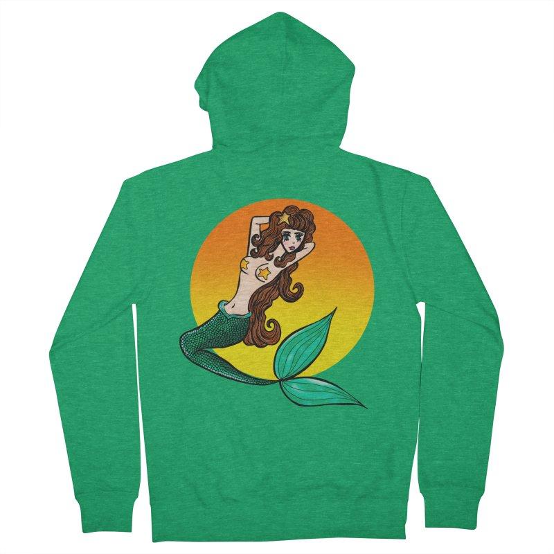 Sunny Mermaid Men's Zip-Up Hoody by jessperezes's Artist Shop