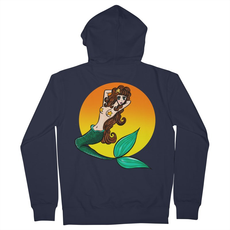 Sunny Mermaid Men's Zip-Up Hoody by jessperezes's Artist Shop