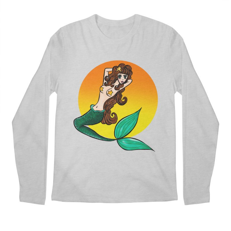Sunny Mermaid Men's Longsleeve T-Shirt by jessperezes's Artist Shop