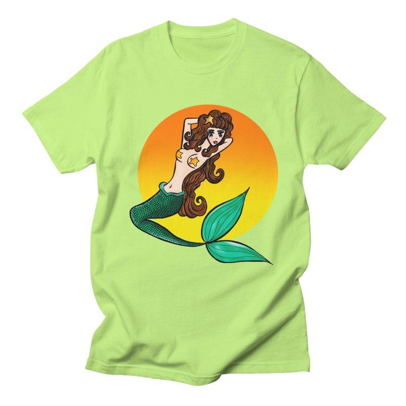 Sunny Mermaid Men's T-Shirt by jessperezes's Artist Shop