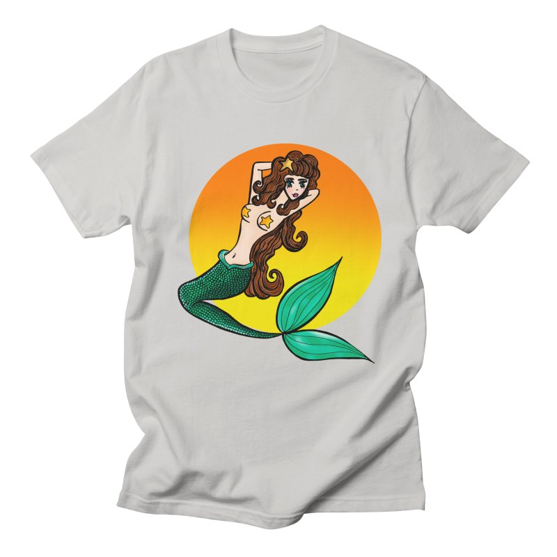 Sunny Mermaid Men's T-shirt by jessperezes's Artist Shop