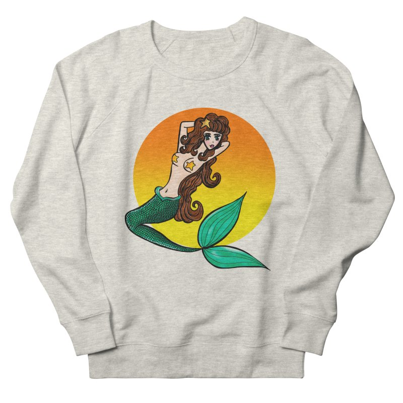 Sunny Mermaid Women's Sweatshirt by jessperezes's Artist Shop