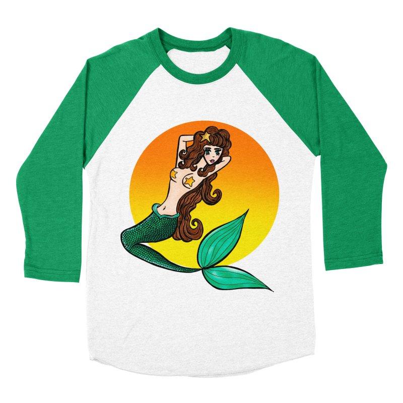 Sunny Mermaid Women's Baseball Triblend T-Shirt by jessperezes's Artist Shop