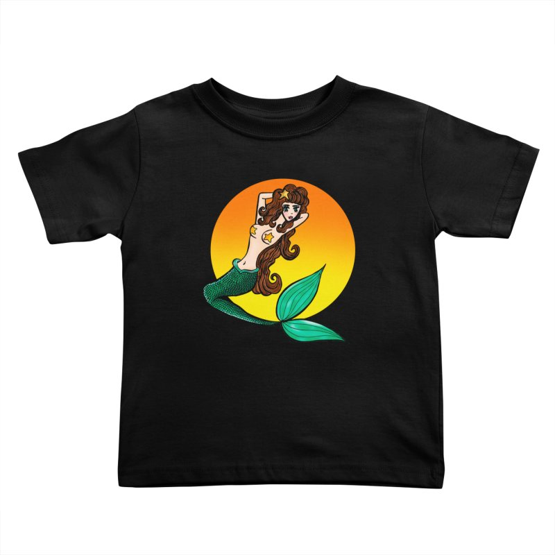 Sunny Mermaid Kids Toddler T-Shirt by jessperezes's Artist Shop