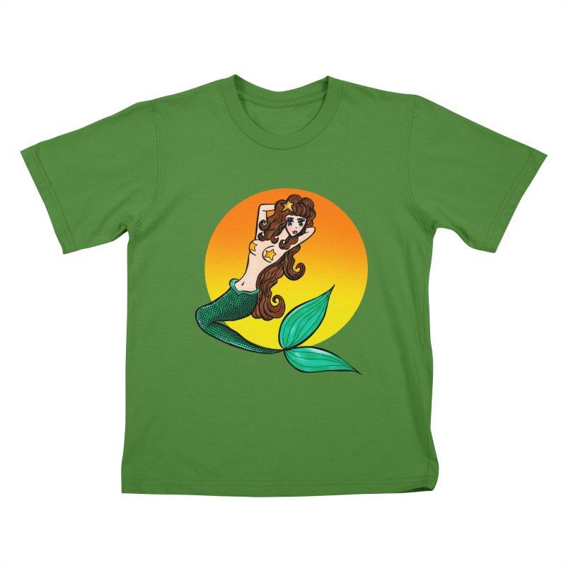 Sunny Mermaid Kids T-shirt by jessperezes's Artist Shop