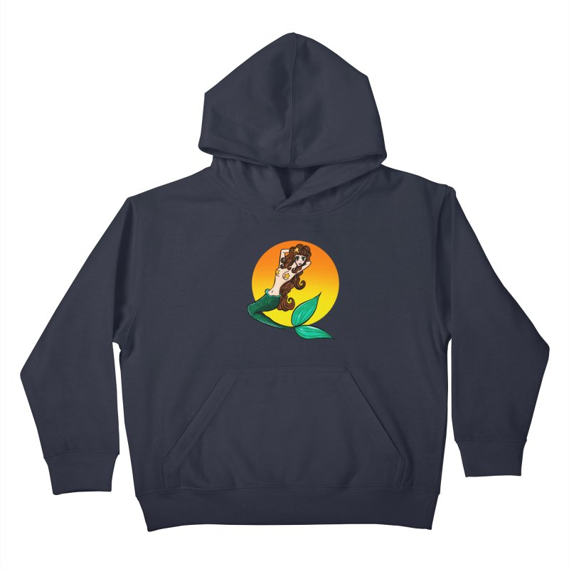 Sunny Mermaid Kids Pullover Hoody by jessperezes's Artist Shop