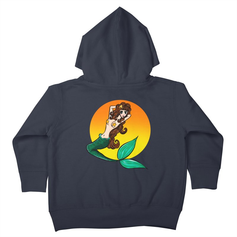 Sunny Mermaid Kids Toddler Zip-Up Hoody by jessperezes's Artist Shop