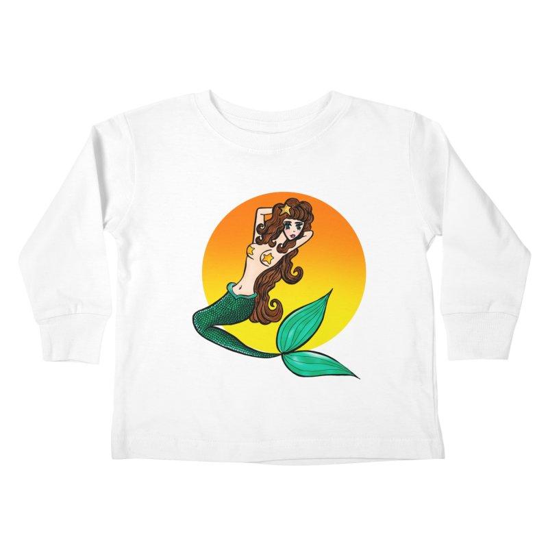 Sunny Mermaid Kids Toddler Longsleeve T-Shirt by jessperezes's Artist Shop