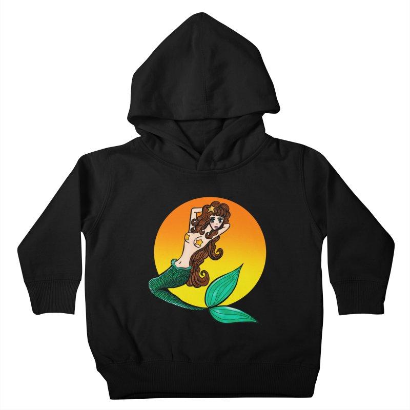 Sunny Mermaid Kids Toddler Pullover Hoody by jessperezes's Artist Shop