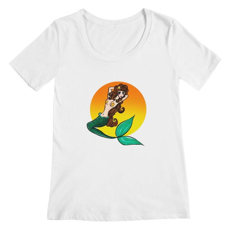 Sunny Mermaid Women's Scoopneck by jessperezes's Artist Shop